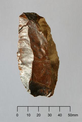 Blade flake with terminal retouch (end Pleistocene  <100,000 years)